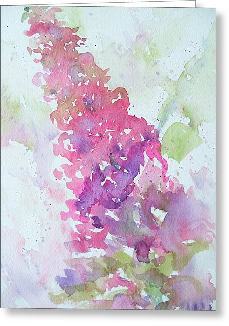 Butterfly Bush Plein Air Greeting Card by Sandy Collier