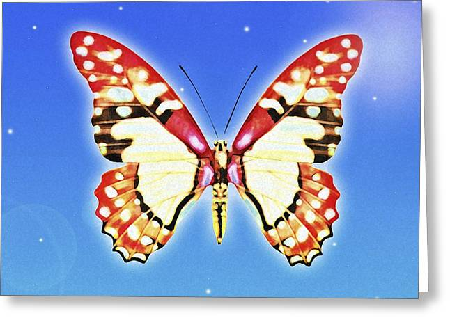 Computer Graphics Greeting Cards - Butterfly Greeting Card by Chris Knorr