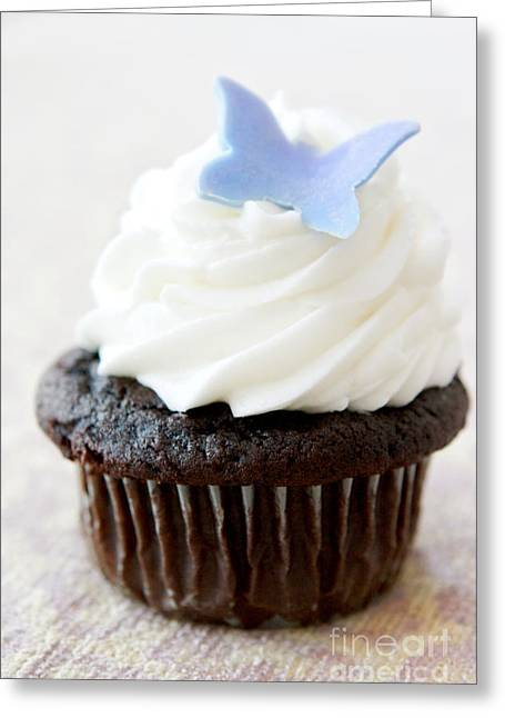 Cupcake Photography Greeting Cards - Butterfly Cupcake Greeting Card by Kim Fearheiley