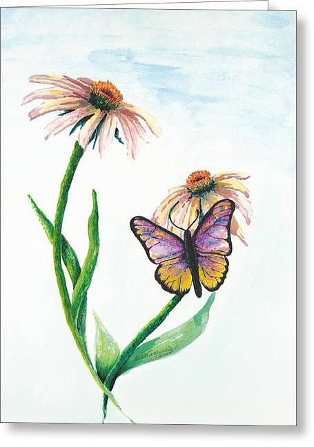 Deborah Ellingwood Greeting Cards - Butterfly Dance Greeting Card by Deborah Ellingwood