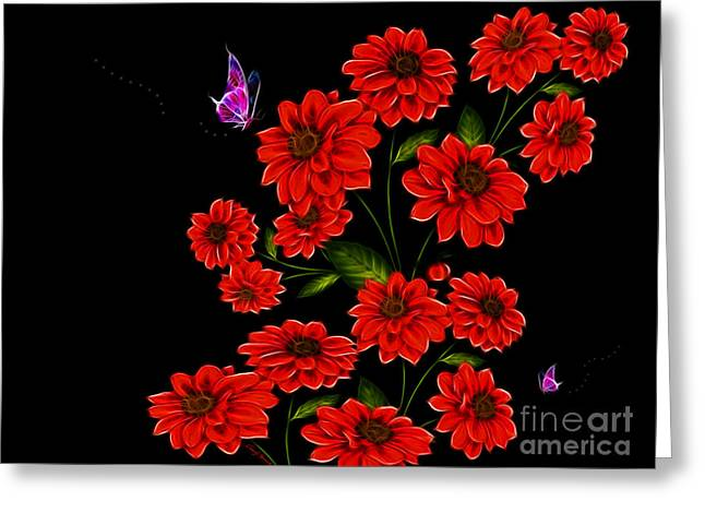 Garden Images Greeting Cards - Butterfly Garden Greeting Card by Cheryl Young