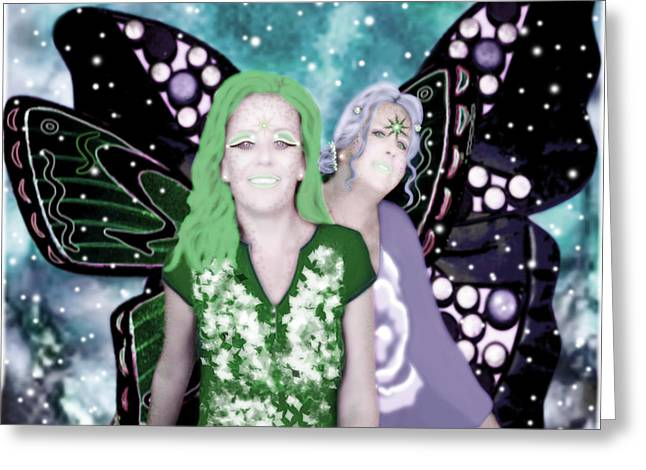 Wings Greeting Cards - Butterfly Girls Greeting Card by Tisha McGee