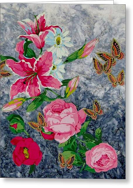 Butterfly Tapestries - Textiles Greeting Cards - Butterfly Heaven  Greeting Card by Judy Sauer