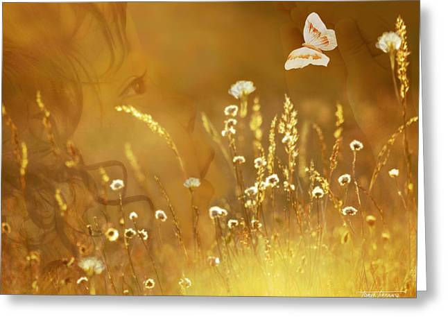 Floral Digital Art Digital Art Greeting Cards - Butterfly Kiss Greeting Card by Torie Tiffany