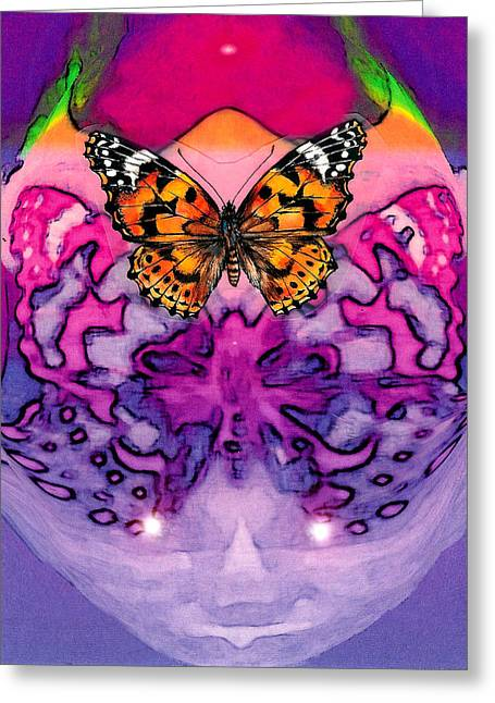 Visionary Artist Greeting Cards - Butterfly mind Greeting Card by George  Page