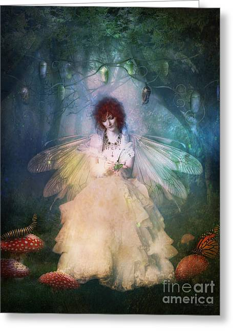 Pupa Greeting Cards - Butterfly Painter Greeting Card by Shanina Conway
