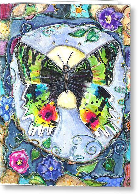 Patricia Mixed Media Greeting Cards - Butterfly Greeting Card by Patricia Allingham Carlson