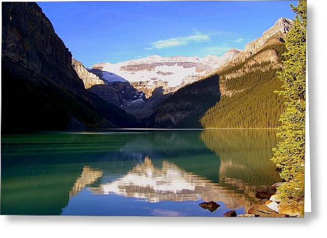 Lake Louise Photography Greeting Cards - Butterfly Phenomenon at Lake Louise Greeting Card by Karen Wiles