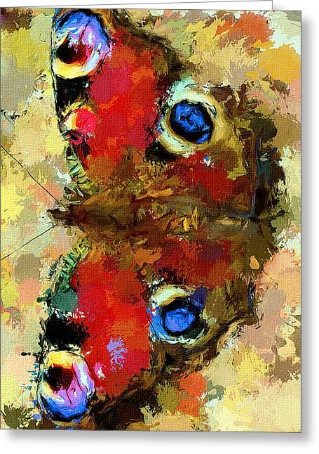 House Pet Digital Art Greeting Cards - Butterfly Greeting Card by Yury Malkov