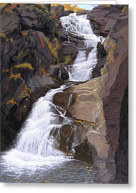Buttermilk Falls Greeting Cards - Buttermilk Falls Greeting Card by Glen Heberling