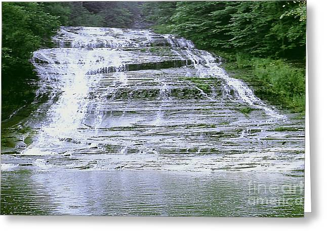 Buttermilk Falls Greeting Cards - Buttermilk Falls Greeting Card by Merton Allen