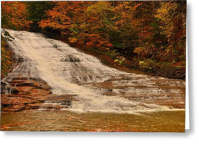 Buttermilk Falls Greeting Cards - Buttermilk Falls sate park New York  Greeting Card by Puzzles Shum