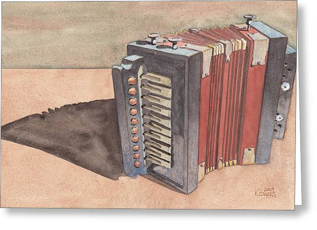 Squeeze Greeting Cards - Button Accordion Greeting Card by Ken Powers