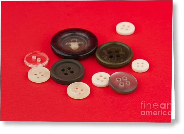 Sewing Supplies Greeting Cards - Buttons Greeting Card by Blink Images
