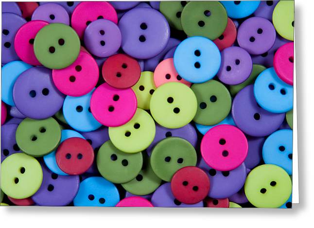 Clothes Clothing Greeting Cards - Buttons Greeting Card by Dan Holm