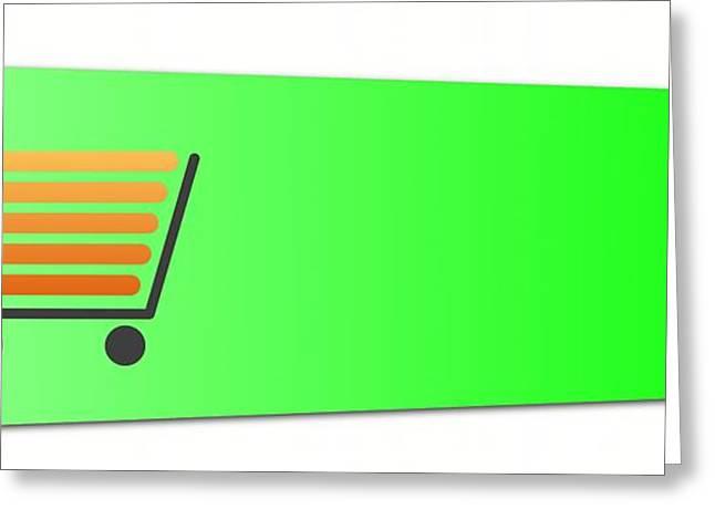 Labelled Greeting Cards - Buy Now Green Greeting Card by Henrik Lehnerer