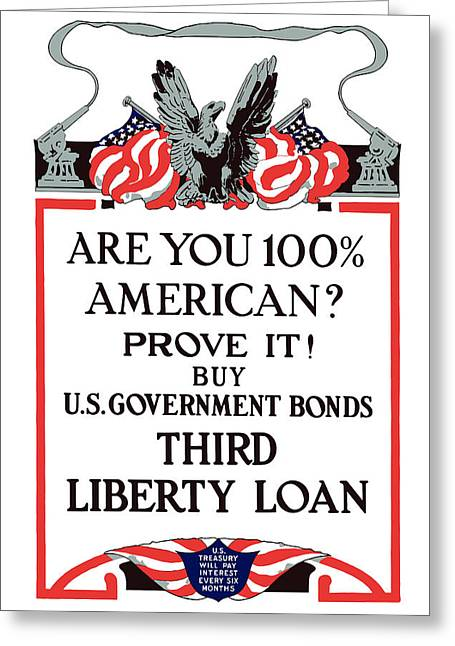 Wwi Greeting Cards - Buy U.S. Government Bonds Greeting Card by War Is Hell Store