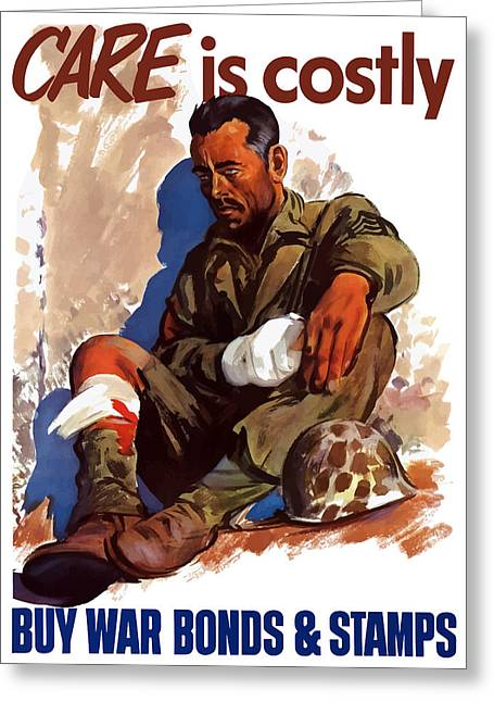 War Effort Mixed Media Greeting Cards - Buy War Bonds and Stamps Greeting Card by War Is Hell Store