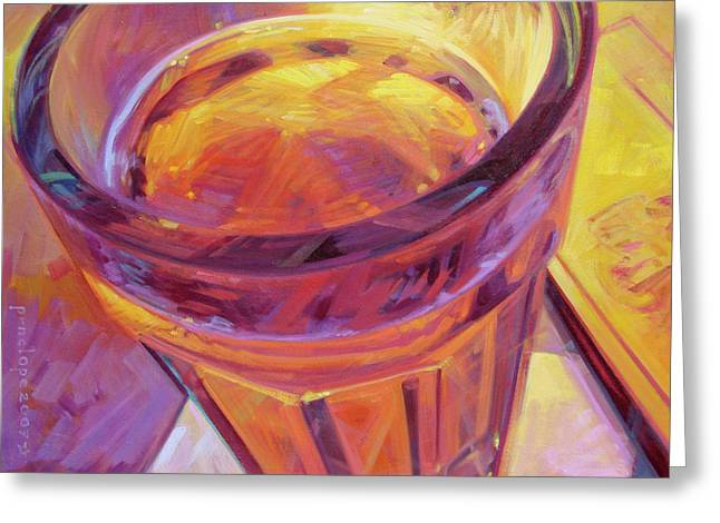 Sell Art Online Greeting Cards - By Candle Light II Greeting Card by Penelope Moore