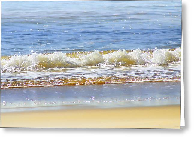 Froth Greeting Cards - By the Coral Sea Greeting Card by Holly Kempe