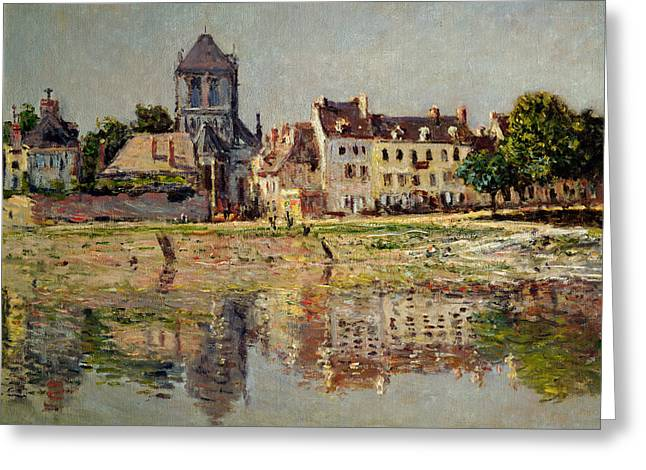 By the River at Vernon Greeting Card by Claude Monet
