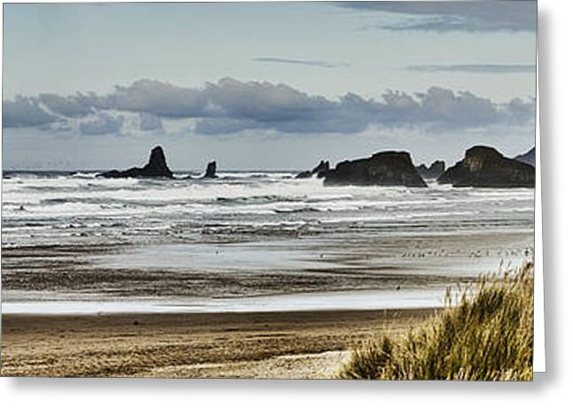 Foggy Beach Greeting Cards - By the Sea - Seaside Oregon State  Greeting Card by James Heckt