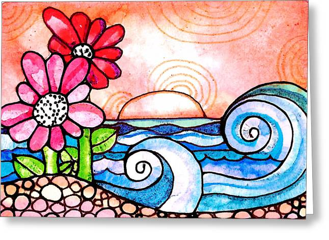 By The Shore Greeting Card by Robin Mead