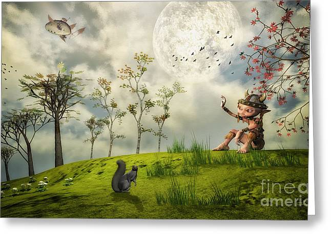 3d Figures Greeting Cards - Bye for Now Greeting Card by Jutta Maria Pusl