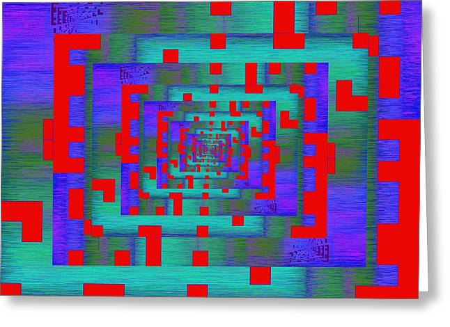 Information Age Digital Art Greeting Cards - Byte Byway Greeting Card by Tim Allen