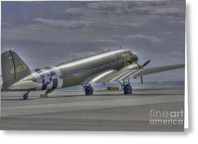 C-47 Skytrain Greeting Card by David Bearden