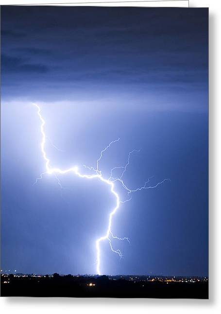 The Lightning Man Greeting Cards - C2G Lightning Strike Greeting Card by James BO  Insogna