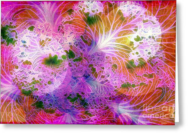 Cabbage Moon Greeting Card by Judi Bagwell
