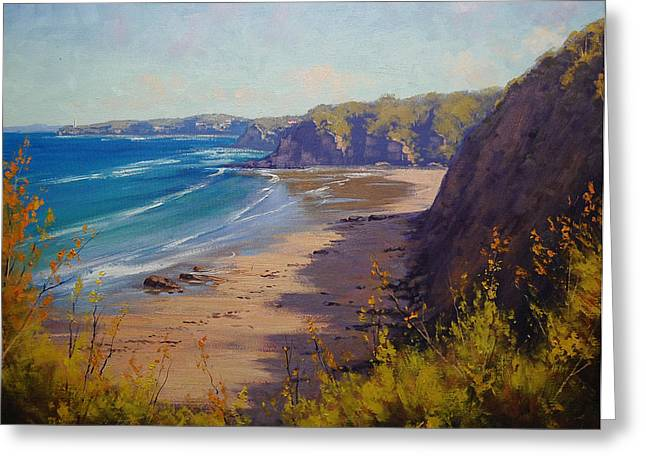 Central Coast Greeting Cards - Cabbage tree Bay NSW Greeting Card by Graham Gercken