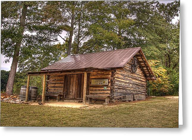 Rustic Cabin Greeting Cards - Cabin At Yates Mill Greeting Card by Joe Granita