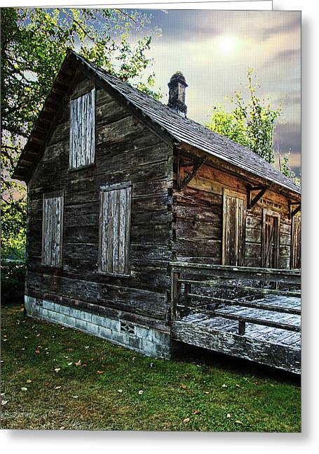 Log Cabins Greeting Cards - Cabin Greeting Card by DMSprouse Art