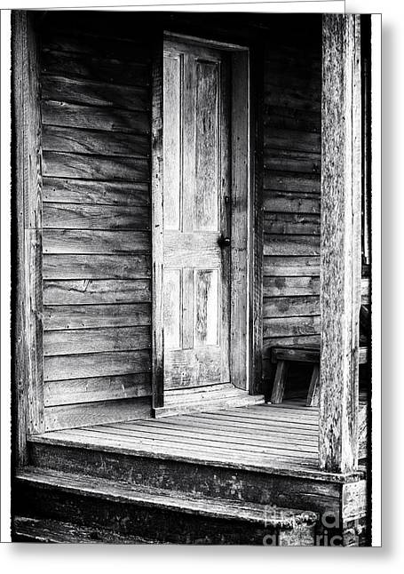 Old Cabins Greeting Cards - Cabin Door Greeting Card by John Rizzuto