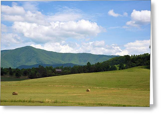 Tennessee Hay Bales Greeting Cards - Cabin In The Smokies Greeting Card by Jan Amiss Photography