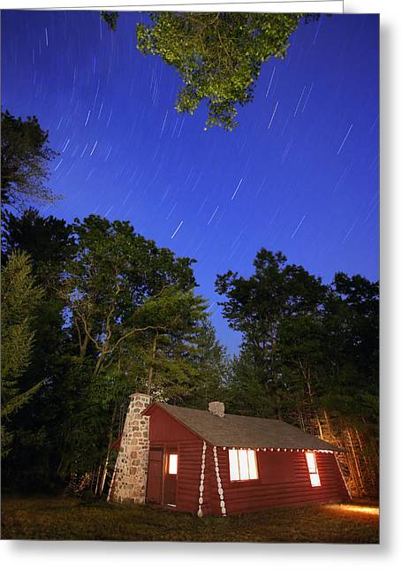 Hunting Cabin Digital Art Greeting Cards - Cabin in the Woods Greeting Card by Gordon Dean II