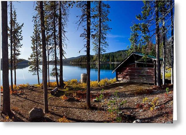 Cabin On Elk Lake Greeting Card by Twenty Two North Photography