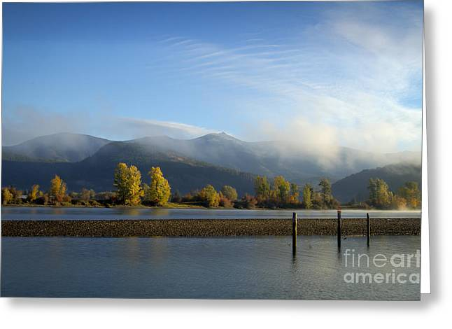 North Fork Greeting Cards - Cabinet Mists Greeting Card by Idaho Scenic Images Linda Lantzy