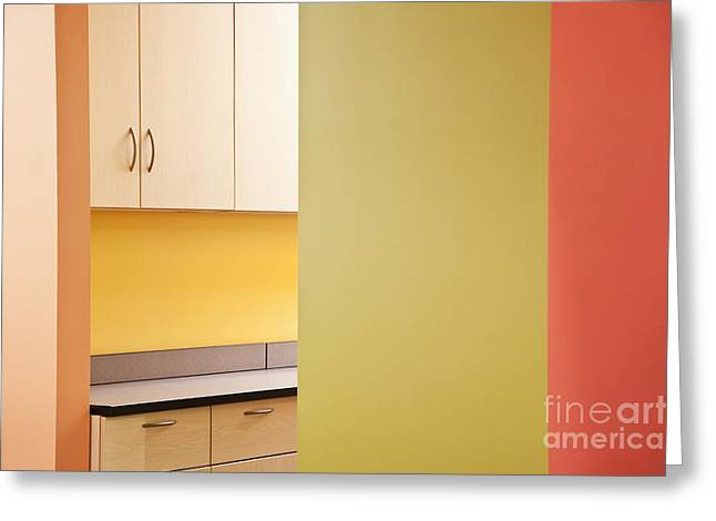 Office Space Photographs Greeting Cards - Cabinets in an Office Supply Room Greeting Card by Jetta Productions, Inc