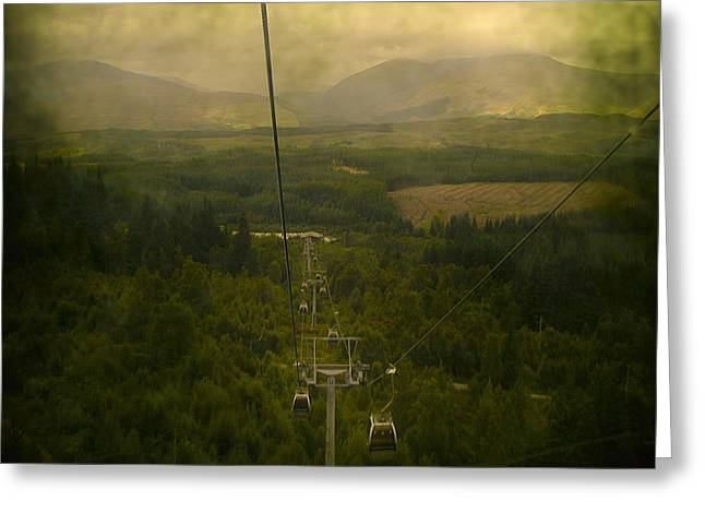 Mystic Art Greeting Cards - Cable Cars Greeting Card by Svetlana Sewell