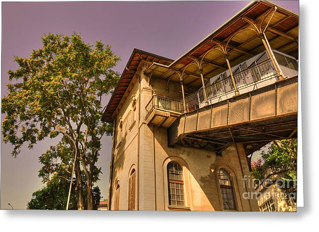 Station Wagon Greeting Cards - Cable railway station Greeting Card by Mats Silvan