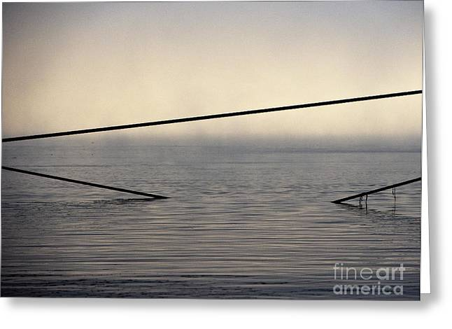 Angular Greeting Cards - Cable Supports in Ocean Greeting Card by David Buffington
