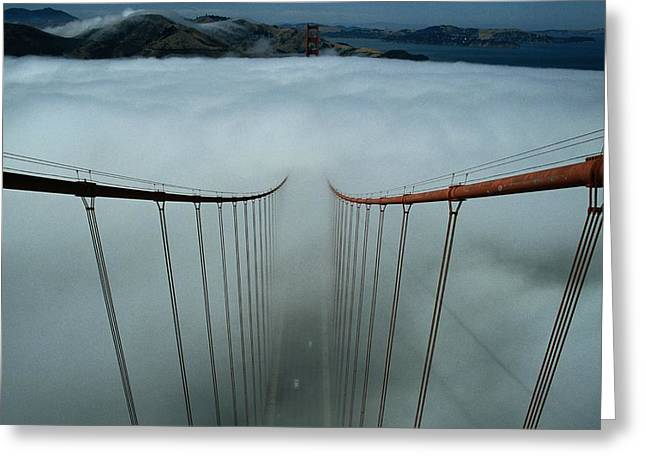 Golden Gate National Recreation Area Greeting Cards - Cables Of The Golden Gate Bridge Greeting Card by Randy Olson