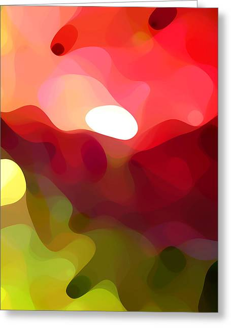 Abstract Forms Digital Art Greeting Cards - Cactus Resting Greeting Card by Amy Vangsgard