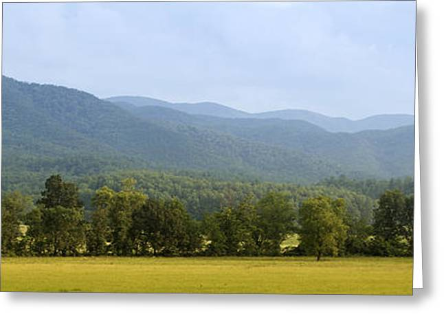 Smoky Pyrography Greeting Cards - Cades Cove Greeting Card by James Massey