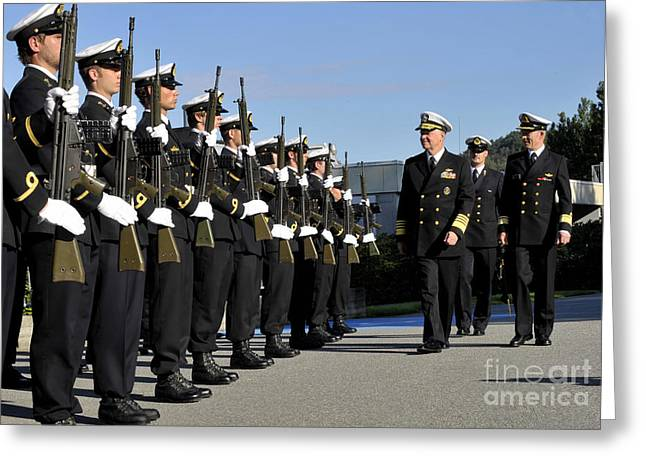 Cadet Greeting Cards - Cadets Of The Royal Norwegian Naval Greeting Card by Stocktrek Images