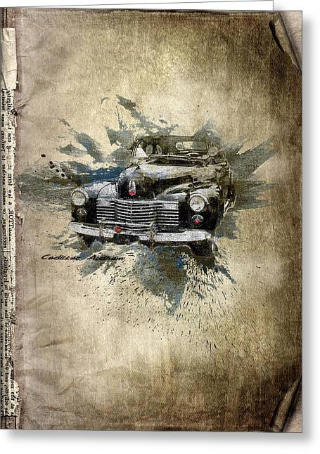 Rare Mixed Media Greeting Cards - Cadillac Aldham Greeting Card by Svetlana Sewell