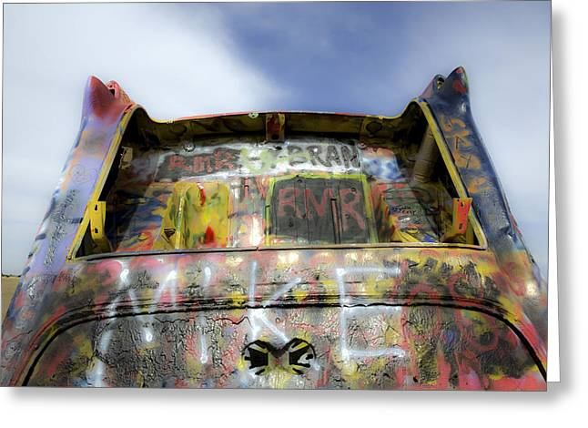 Modern Photographs Greeting Cards - Cadillac Ranch 8 Greeting Card by Luc Novovitch